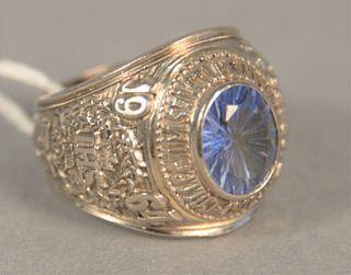 14K white gold class ring, 29 gr.