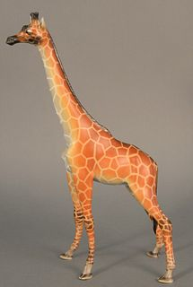 "Herend ""Natural Giraffe"" porcelain sculpture, ht. 14 1/2""."