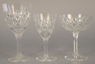 "Sixty-six piece set of Boda cut crystal stems to include eleven champagne, 5 1/2""; ten wines, 5 3/4""; twelve waters, 7"" and five cordials, 4 1/2""."
