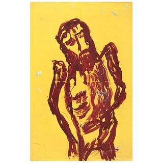 """CHUCHO REYES, Cristo, Signed on front with monogram on back, Aniline on manila paper, 34.2 x 22.8"""" (87 x 58 cm), Certificate"""