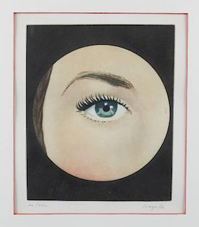 "Rene Magritte ""The Eye"" etching."