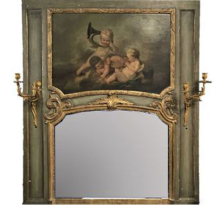 19th C French Gilt Trumeau