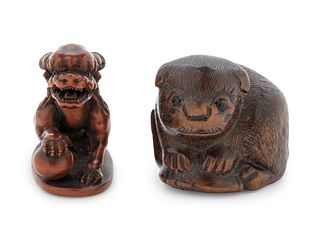 Two Boxwood Netsuke
