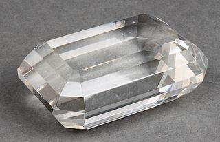 Tiffany & Co. Emerald Cut Crystal Paperweight