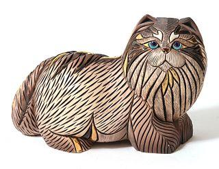 Modern Art Pottery Cat Sculpture