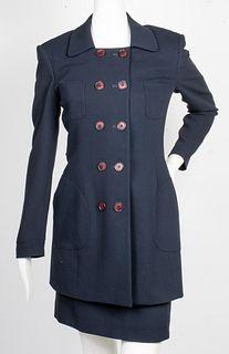 Gemma for Savvy Black Wool Dress & Jacket Set, 2