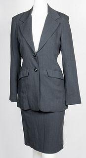 Eduardo Lucero Grey Wool Women's Suit, 3 Piece