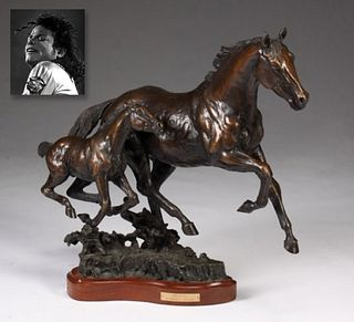 """Born to Run,"" Bronze, ex. Michael Jackson"