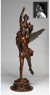 Cupid and Psyche, Bronze, ex. Michael Jackson