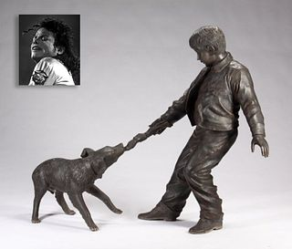 Young Boy and Companion, Bronze, ex. Michael Jackson