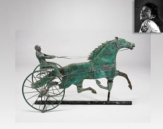 Copper Horse Weathervane, ex. Michael Jackson