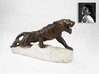Tiger King, Bronze on Marble Base, ex. Michael Jackson