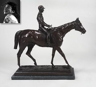 Equestrian, Bronze on Marble Stand, ex. Michael Jackson