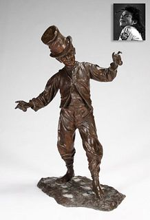 Hat Boy Playing Castanets, Bronze, ex. Michael Jackson