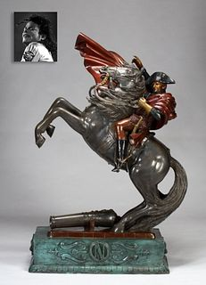 Napoleon Crossing the Alps, Bronze, ex. Michael Jackson