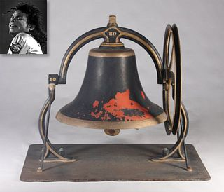 Painted Metal Bell W/ Pulley Wheel, ex. Michael Jackson