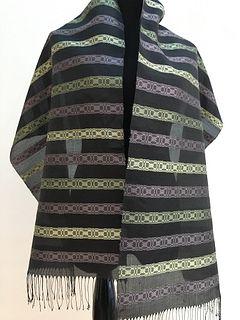 Hand-dyed, Handwoven Silk Organza Shawl