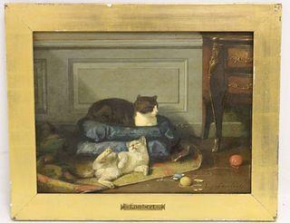 LOUIS EUGENE LAMBERT (1825-1900, FRANCE) OIL