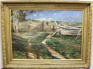 DAVID B WALKLEY (1849-1934, CT, NY, OH) OIL ON