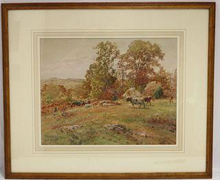 GEORGE A HAYS (1854-1945, RI, MA, NH) WATERCOLOR