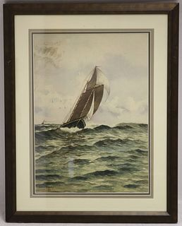 EDWARD A HARVEY (1862-1917, MA) WATERCOLOR