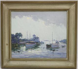 CHARLES GORDON HARRIS (1891-1963, RI), OIL ON
