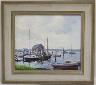 CHARLES GORDON HARRIS (1891-1963, RI) OIL ON