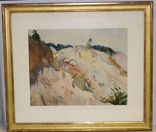 JOHN LAVALLE (1896-1971, MA, NY) FRAMED