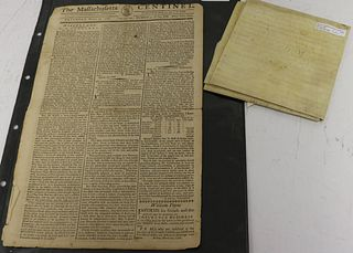 TWO PIECE EPHEMERA LOT TO INCLUDE: 1) THE