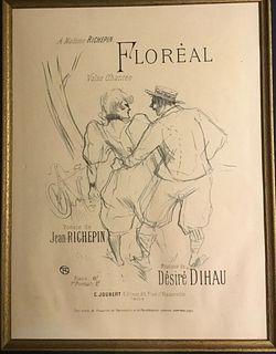 Lithograph, Floreal, Toulouse-Lautrec (1864-1901)