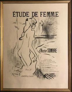 Lithograph, Etude de Femme, Henri Toulouse-Lautrec