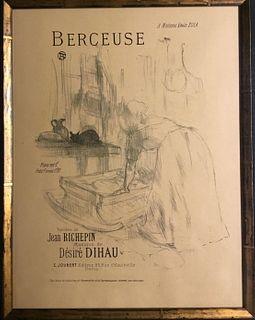 Lithograph, Bercuese, Henri Toulouse-Lautrec