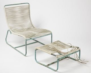 Walter Lamb Lounge Chair with Ottoman