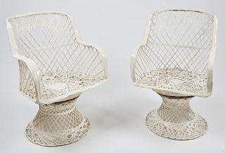 2 Woodard Brutalist Sun Fiberglass Outdoor Chairs