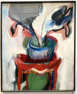 Abstract Painting by K. McKinnell 1962
