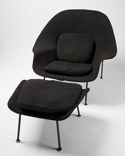 Eero Sarrinen Womb Chair & Ottoman
