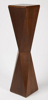 Modernist Walnut Display Pedestal