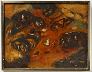 Abstract Painting Signed Dumitru