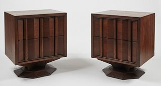 Pair Paul Evans Two Drawer End Tables