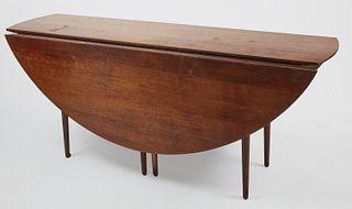 Large MCM Drop Leaf Dining Room Table