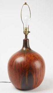 Good Mid-Century Modern Pottery Lamp