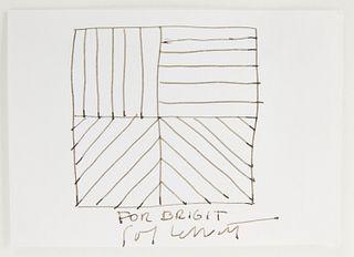 Sol Lewitt Pencil Sketch