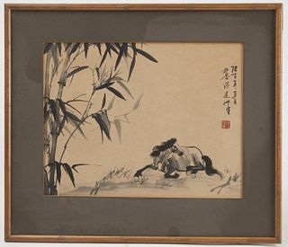 Chinese Watercolor attributed to Xu Beihong