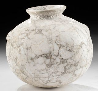 Gorgeous Egyptian Late Dynastic Alabaster Jar