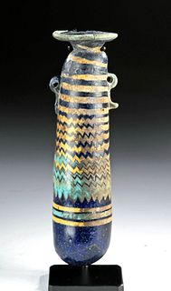 Greek Hellenistic Core-Formed Glass Alabastron