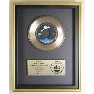 """Beat It"" RIAA Gold Award Presented to Michael Jackson"