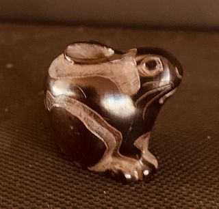 Wooden Netsuke of Rabbit