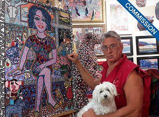 LON MICHELS, Portrait Commission [BUY NOW: SOLD]