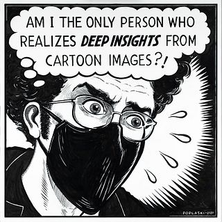 PETER POPLASKI, Deep Insights from the Cartoon Images [BUY NOW: SOLD]