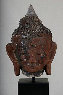 Large Buddha Head, Ava Period, Burma, 16th Century